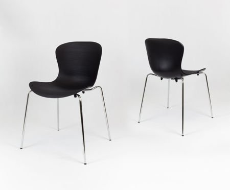 SK Design KR019 Black Chair on Metal Frame