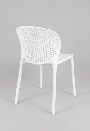 SK Design KR033 White Polypropylene Chair
