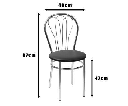 SKN Jowisz Sand Chair, Chrome Legs