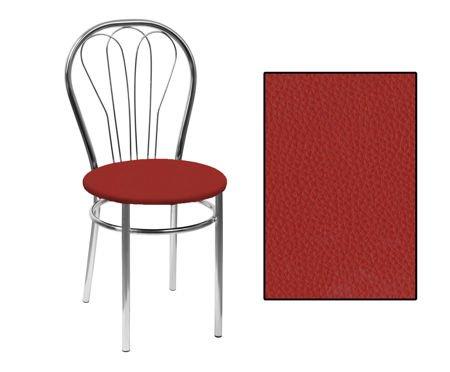 SKN Jowisz Dark Red Chair, Chrome Legs