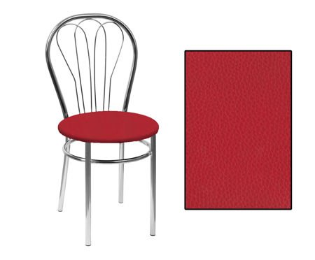 SKN Jowisz Red Chair, Chrome Legs