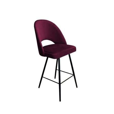 Upholstered stool LUNA in burgundy color, MG-02 material