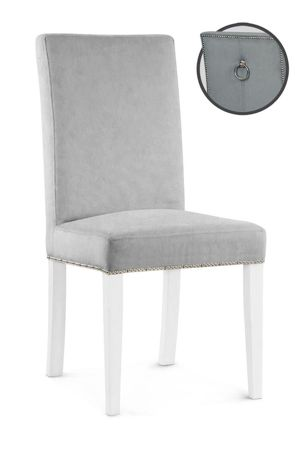 WILLFORD III chair silver / white / PA05