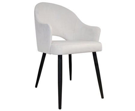 White upholstered chair armchair DIUNA material MG-50