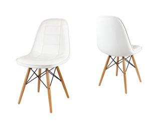 stuhl wei mit holzbeinen contur stuhl weiss holzbeine. Black Bedroom Furniture Sets. Home Design Ideas