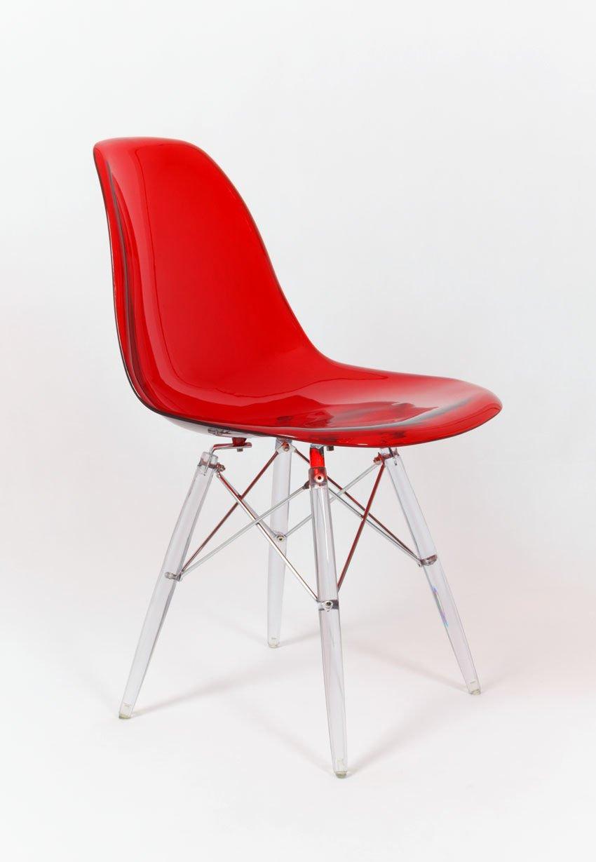 Sk design kr012 transparent red stuhl klar rot transparent for Stuhl transparent design