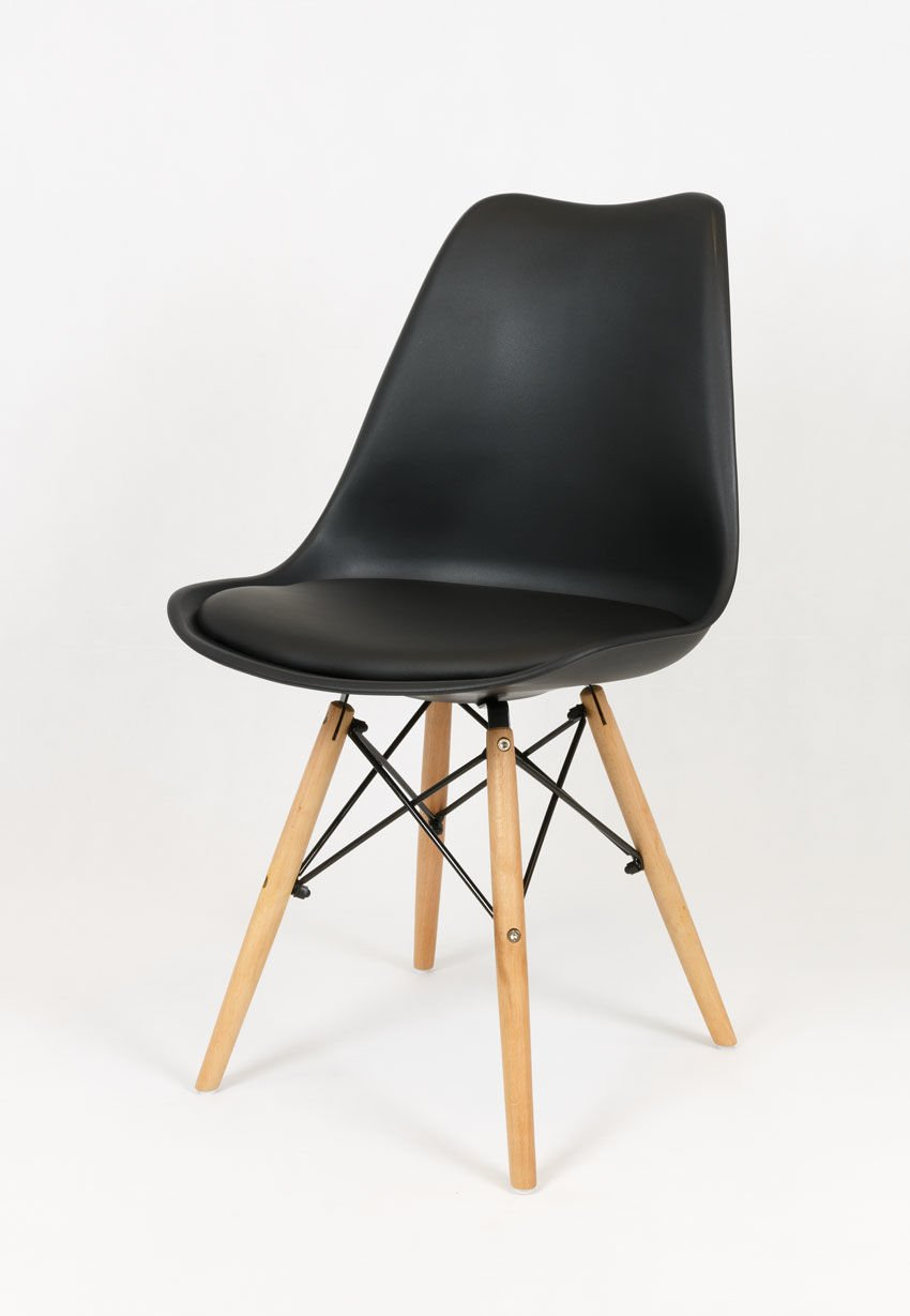 sk design kr020 tr b schwarz stuhl mit polypropylen und kissen schwarz angebot st hlen salon. Black Bedroom Furniture Sets. Home Design Ideas