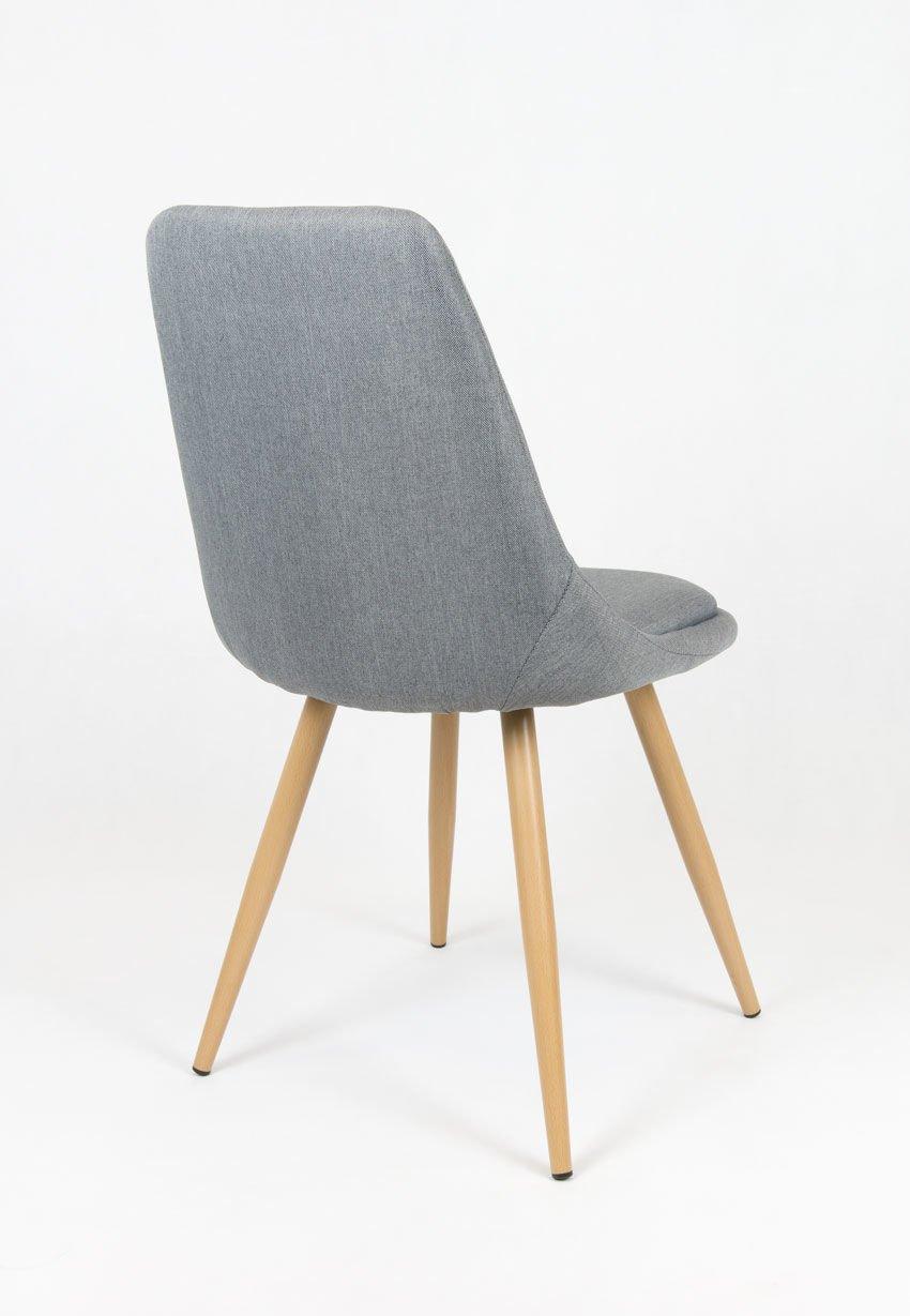 Sk design kr051 grau stuhl mit kissen grau angebot for Design stuhl grau