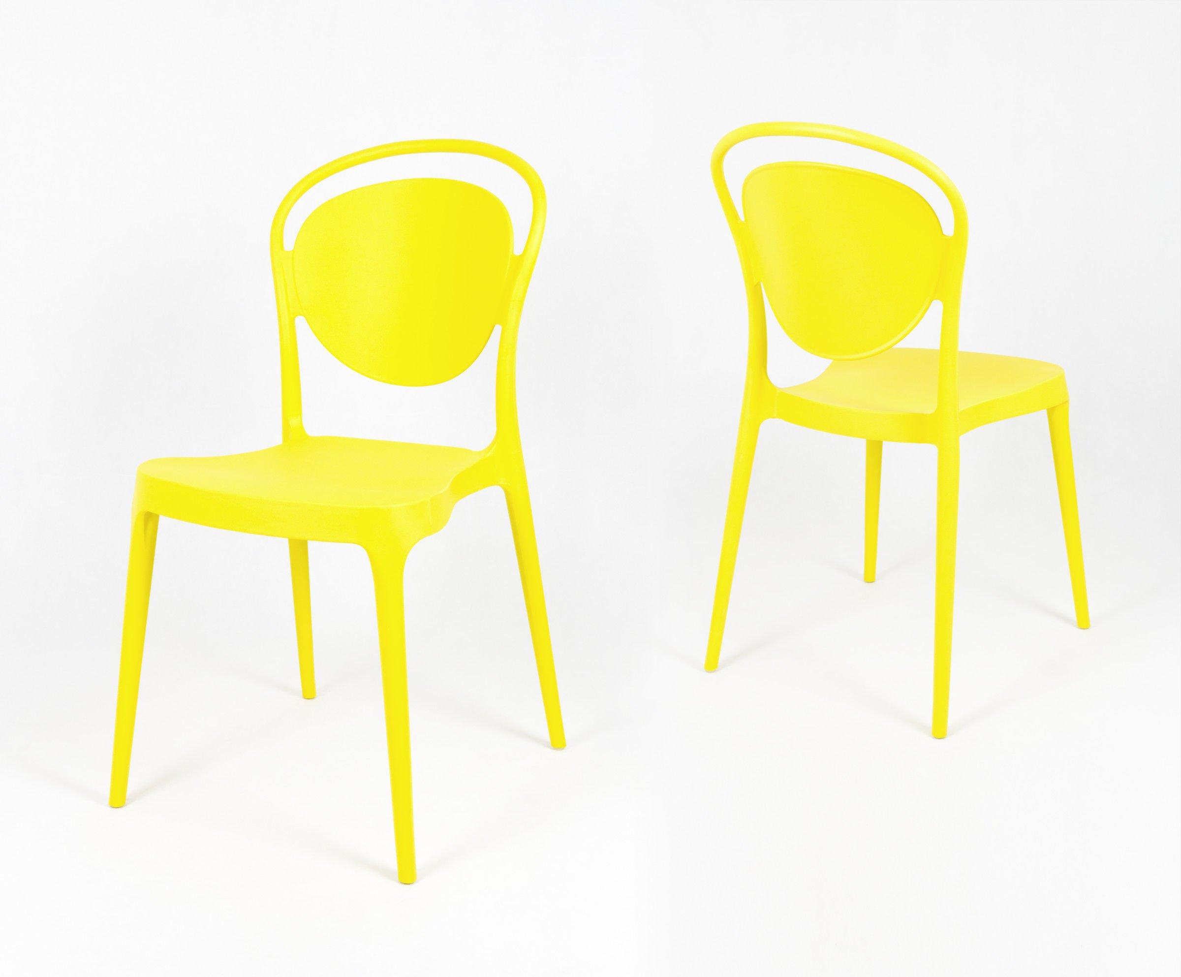Sk Design Kr055 Gelb Stuhl Aus Polypropylen Gelb Sonderangebote