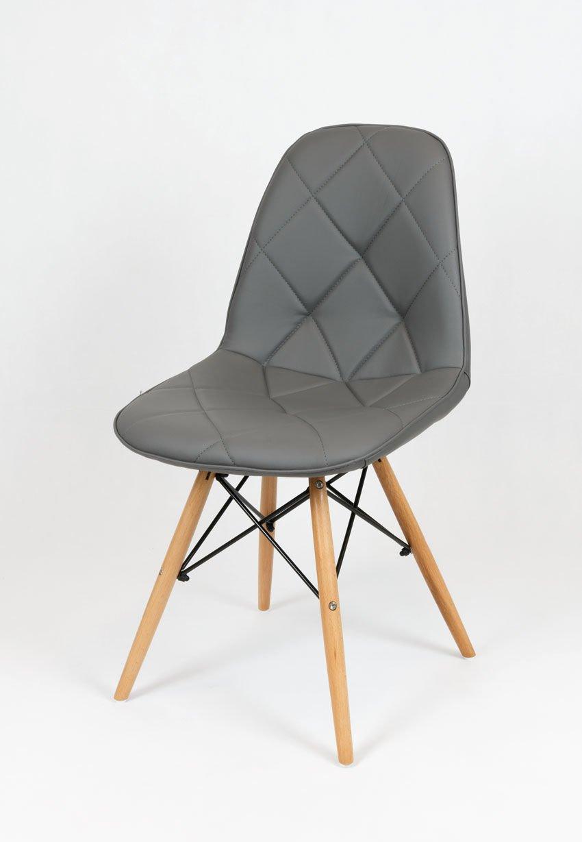 sk design ks007 grau kunsleder stuhl mit holzbeine dunkelgrau sonderangebote angebot st hlen. Black Bedroom Furniture Sets. Home Design Ideas