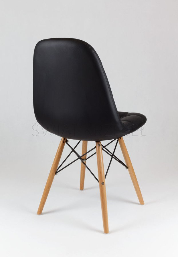 sk design ks008 schwarz kunsleder stuhl mit holzbeine schwarz outlet angebot st hlen salon. Black Bedroom Furniture Sets. Home Design Ideas