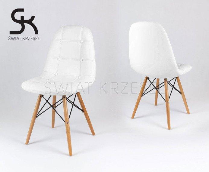 sk design ks008 weiss kunsleder stuhl mit holzbeine weiss. Black Bedroom Furniture Sets. Home Design Ideas