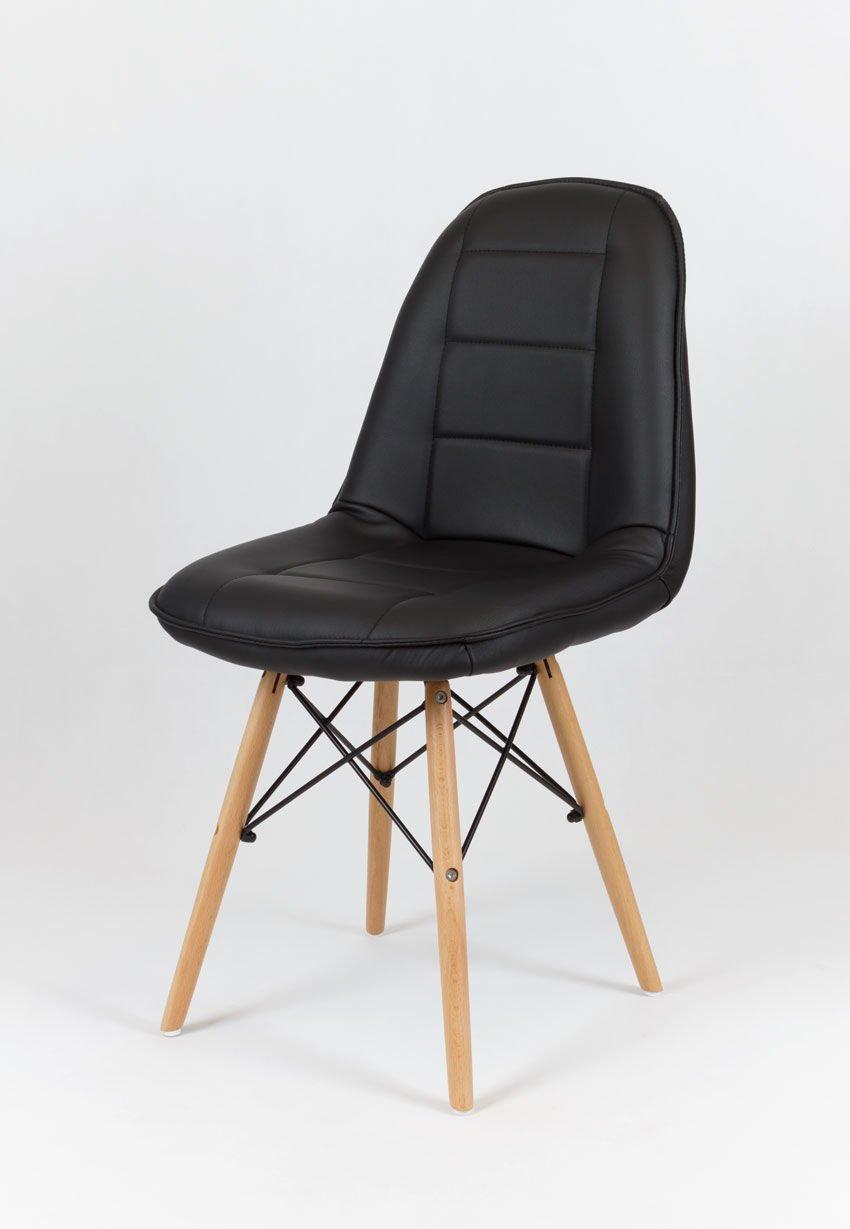 sk design ks009 schwarz kunsleder stuhl mit holzbeine schwarz angebot sonderangebote angebot. Black Bedroom Furniture Sets. Home Design Ideas