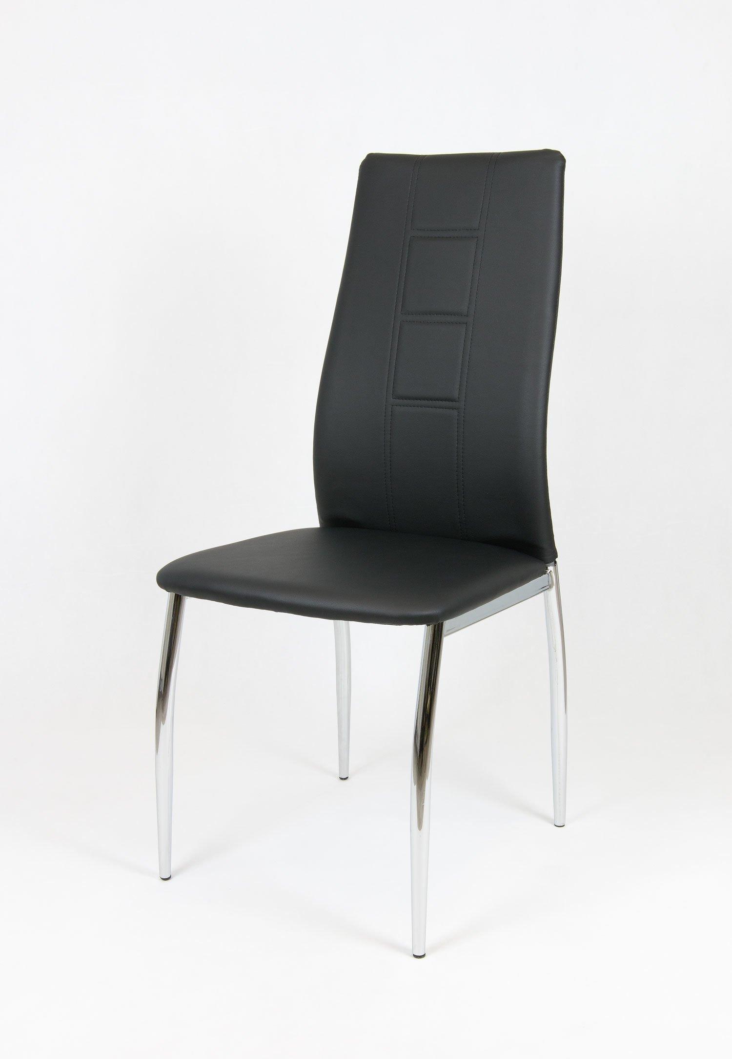 sk design ks026 schwarz kunsleder stuhl mit chromgestell schwarz angebot st hlen b ro. Black Bedroom Furniture Sets. Home Design Ideas