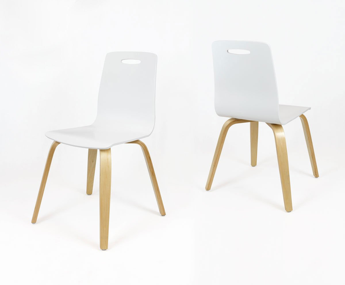 Stuhle kuche weiss for Design stuhle weiss