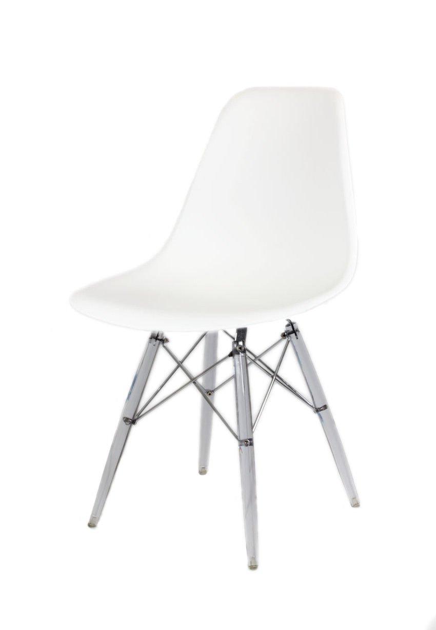 SK Design KR012 Weiss Stuhl Clear Weiss