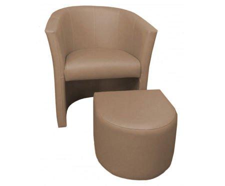 CAMPARI Sessel mit Fußstütze aus Mikrofaser 2