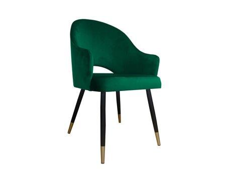 Dunkelgrüner gepolsterter Stuhl DIUNA Sessel Material MG-25 mit goldenen Beinen