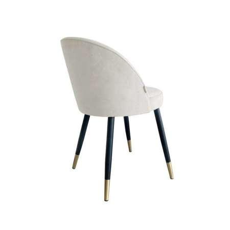 Gepolsterter Stuhl CENTAUR Material aus elfenbeinfarbenem MG-50 mit goldenen Bein