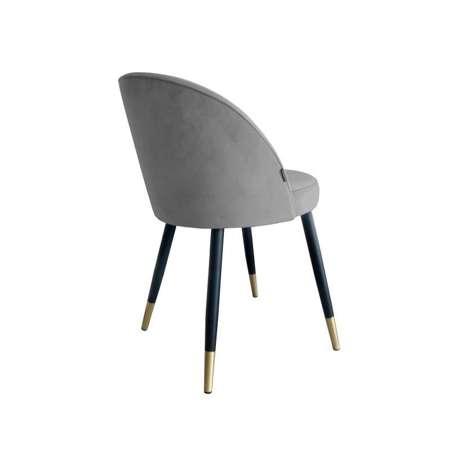 Grau gepolsterter Stuhl CENTAUR Material MG-17 mit goldenen Bein