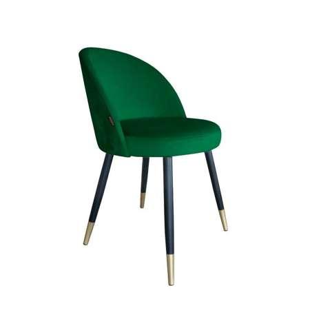 Grün gepolsterter Stuhl CENTAUR Material MG-25 mit goldenen Bein