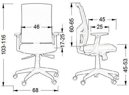Krzesło Fotel obrotowy Korfu - niebieski aluminium