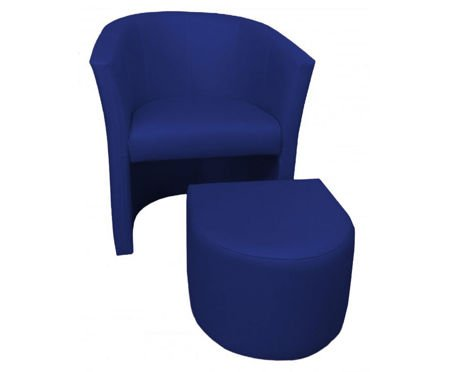 Marineblau CAMPARI Sessel mit Fußstütze