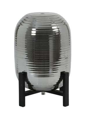 Nibali Tischlampe geräuchertes / schwarzes Holz