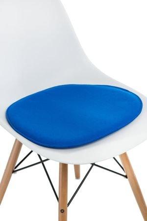 Poduszka na krzesło KR012 niebieska