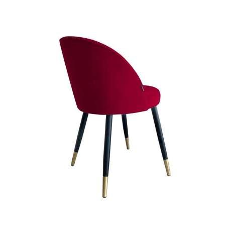 Rot gepolsterter Stuhl CENTAUR Material MG-31 mit goldenen Bein