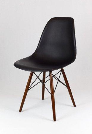 SK Design KR012 Schwarz Stuhl Wenge
