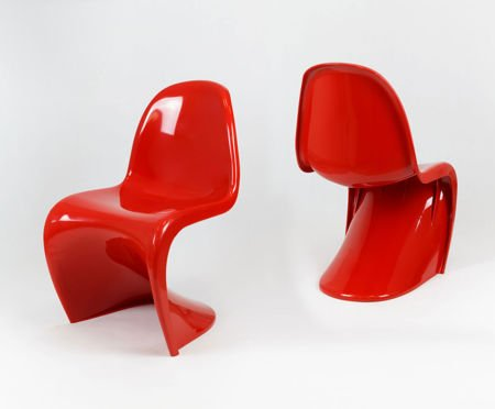 SK Design KR017 Rot Stuhl Glanz