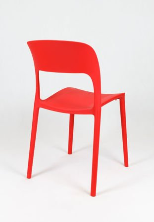 SK Design KR022 Rot Stuhl aus Polypropylen