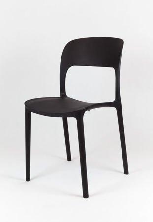 SK Design KR022 Schwarz Stuhl aus Polypropylen