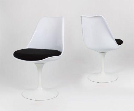 SK Design KR029 Weiss Drehstuhl + Kissen