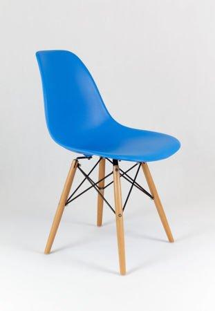 SK Design KR012 Blau Stuhl Buche
