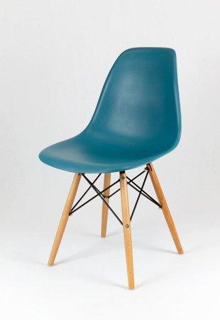 SK Design KR012 Dunkelblau Stuhl Buche