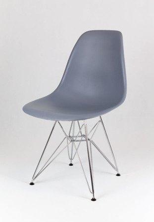 SK Design KR012 Dunkelgrau Stuhl Chrom
