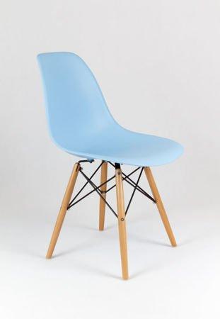 SK Design KR012 Hellblau Stuhl Buche