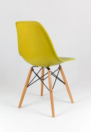 SK Design KR012 Oliv Grun Stuhl, Buche