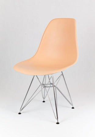 SK Design KR012 Pfirisich Stuhl Chrome