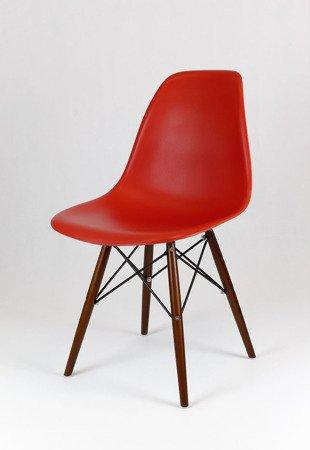 SK Design KR012 Ziegelrot Stuhl Wenge