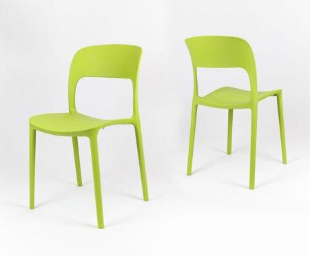 SK Design KR022 Grun Stuhl aus Polypropylen UFO