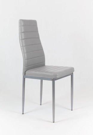 SK Design KS001 Hellgray Kunsleder Stuhl auf einem lackierten Rahmen