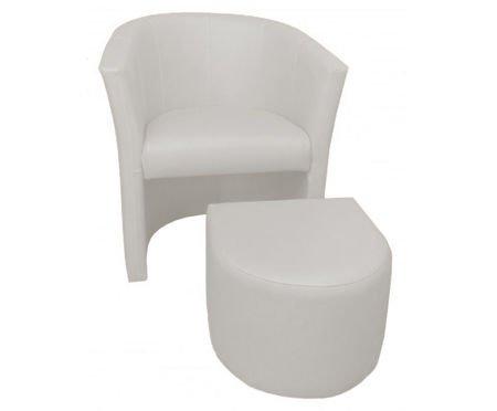 Weiß CAMPARI Sessel mit Fußstütze