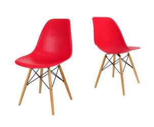 SK Design KR012 Czerwone Krzesło, Nogi buk