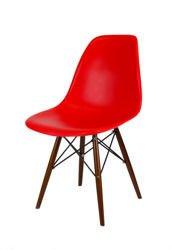 SK Design KR012 Czerwone Krzesło Wenge