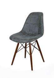 SK Design KR012 Tapicerowane Krzesło Eko, Nogi wenge