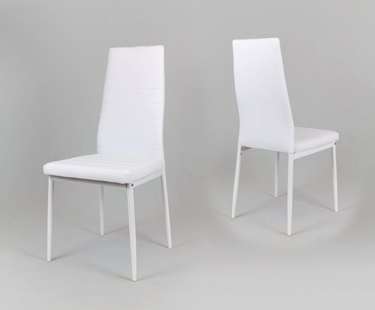 Sk Design Ks001 Białe Krzesło Z Eko Skóry Białe Nogi