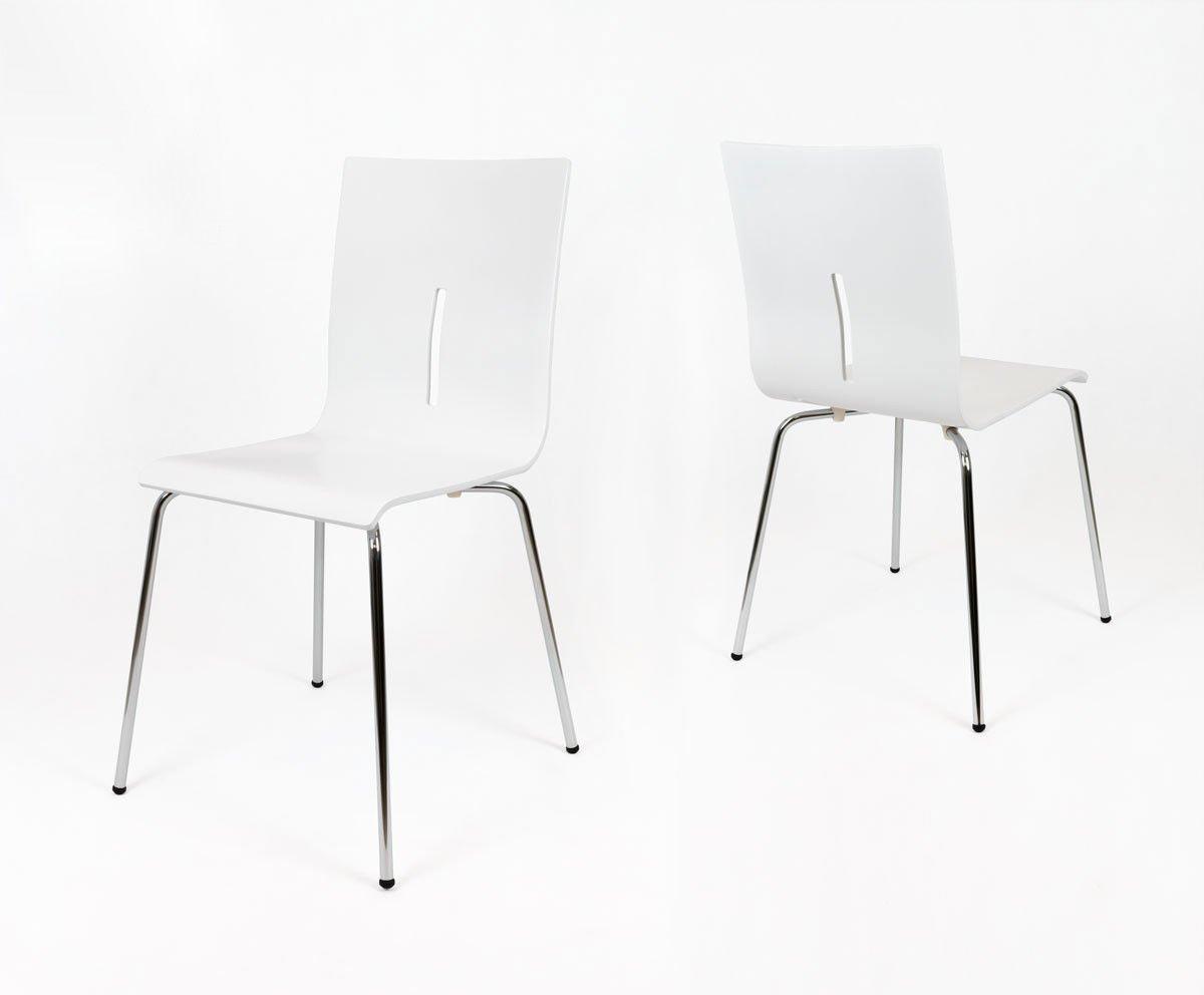 Najnowsze SK Design SKD008 Drewniane Krzesło Białe | Oferta \ Krzesła Biuro WV57